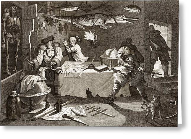 Alchemy And Astrology, 19th Century Greeting Card by Science Photo Library