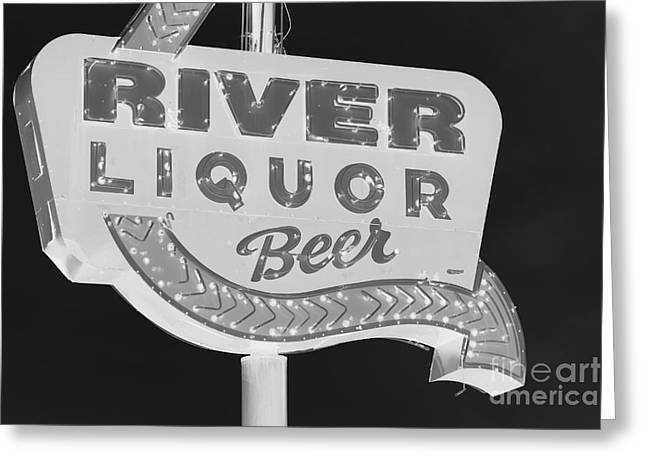 Alcohol Sign Greeting Card by Jerry Bunger