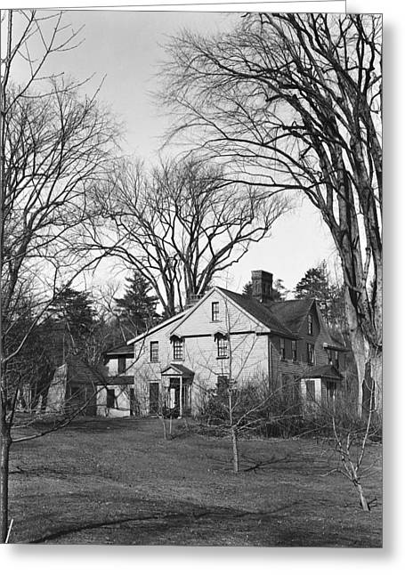 Alcott Orchard House, 1941 Greeting Card