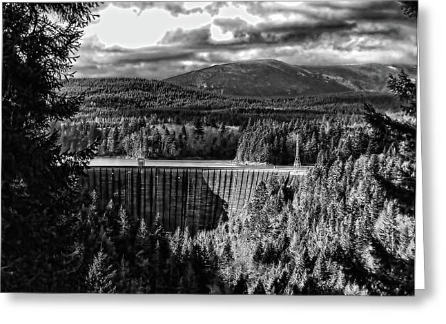 Greeting Card featuring the photograph Alder Dam Near Mt Rainer Wa by Ron Roberts