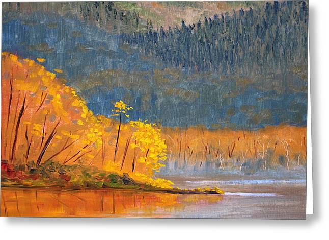 Alder Lake Greeting Card by Nancy Merkle