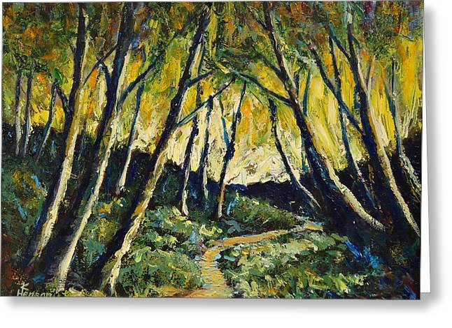 Alder Path Sunset Greeting Card