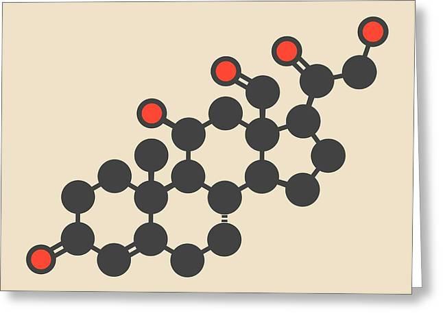 Aldosterone Hormone Molecule Greeting Card by Molekuul