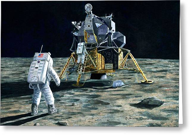 Aldrin Joins Armstrong Greeting Card