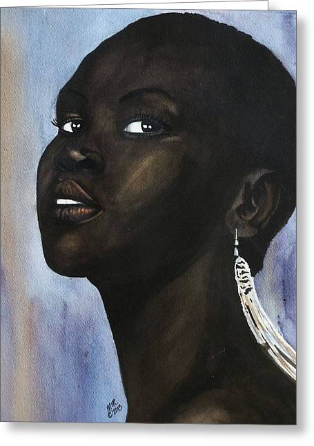 Alek Wek Greeting Card