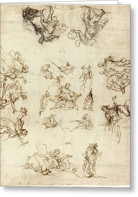 Alessandro Maganza, Italian 1556-1640, A Compartmented Greeting Card by Litz Collection