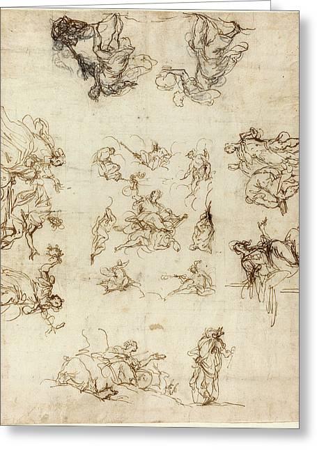 Alessandro Maganza Italian, 1556 - 1640 Greeting Card by Quint Lox