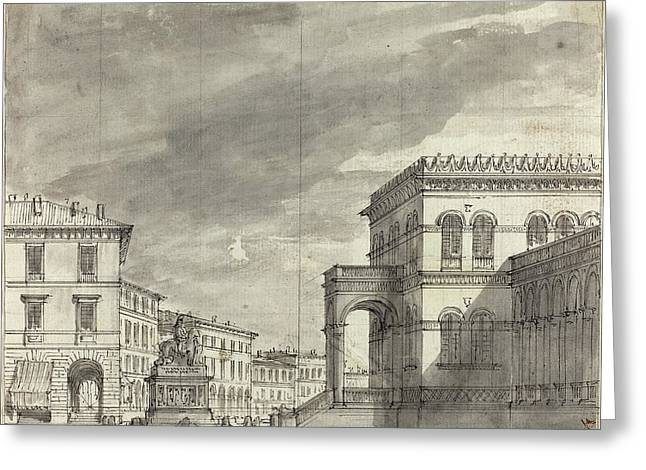 Alessandro Sanquirico Italian, 1780 - 1849 Greeting Card by Quint Lox