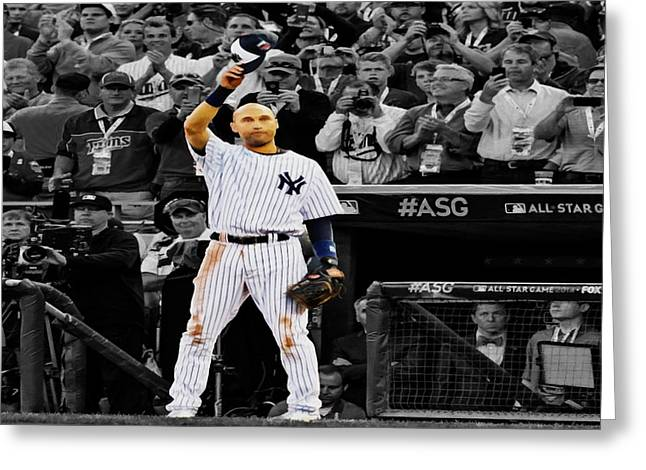 Alex Rodriguez Greeting Card by Brian Reaves