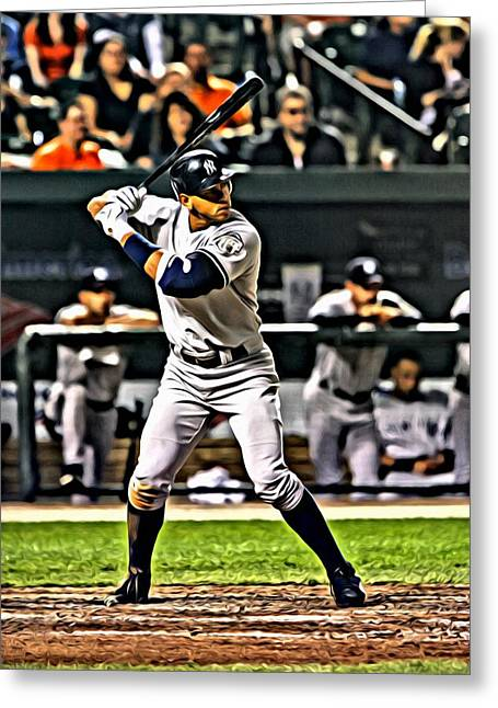Alex Rodriguez Canvas Greeting Card by Florian Rodarte
