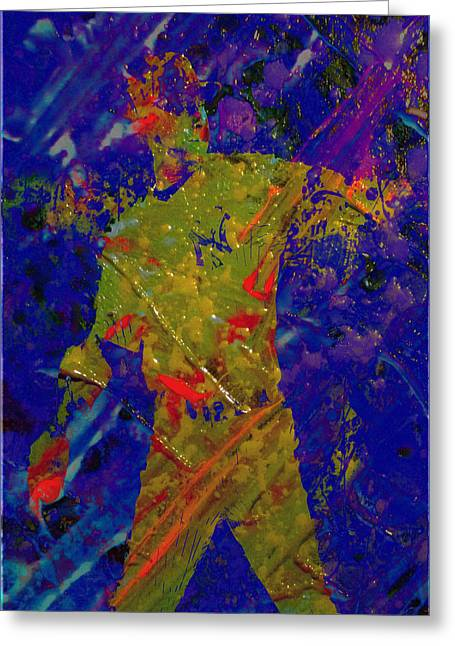 Alex Rodriguez Plaster Art Greeting Card