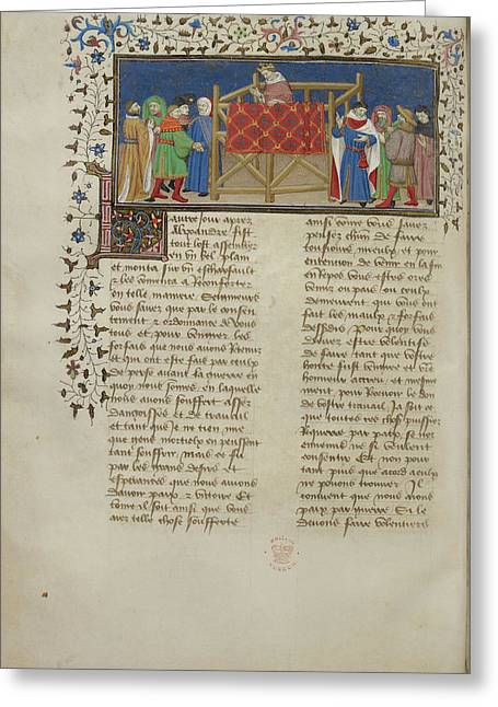 Alexander Addresses His People Greeting Card by British Library