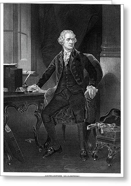 Alexander Hamilton Greeting Card by Historic Image