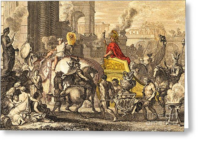 Alexander The Great Entering Babylon Greeting Card by Getty Research Institute