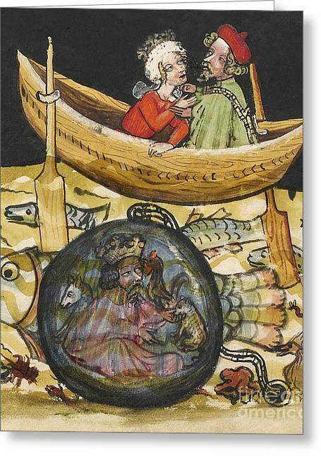 Alexander The Great In Diving Bell Greeting Card
