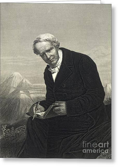 Alexander Von Humboldt, German Naturalist Greeting Card by British Library