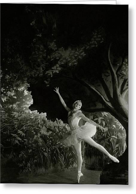 Alexandra Danilova In Swan Lake Greeting Card by Cecil Beaton