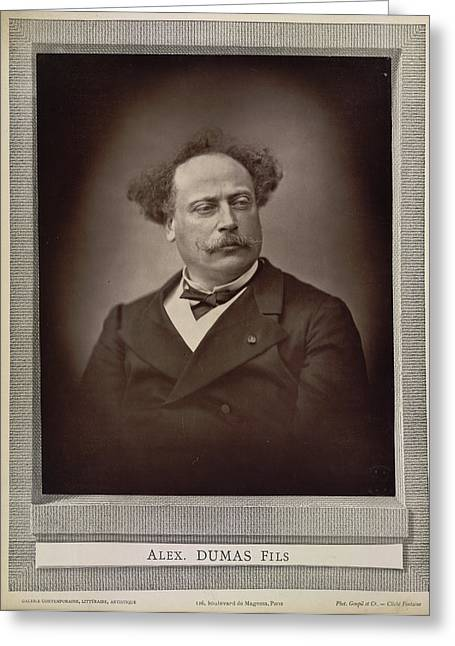 Alexandre Dumas Greeting Card by British Library