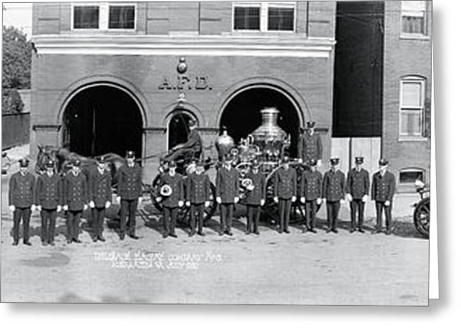 Alexandria Fire Department Alexandria Va Greeting Card by Fred Schutz Collection