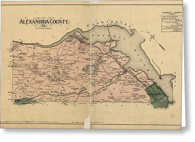 Alexandria Virginia 1878 Greeting Card by Joseph Hawkins