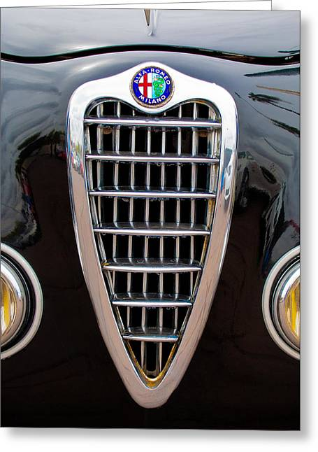 Alfa Romeo Milano Grille Greeting Card by Jill Reger