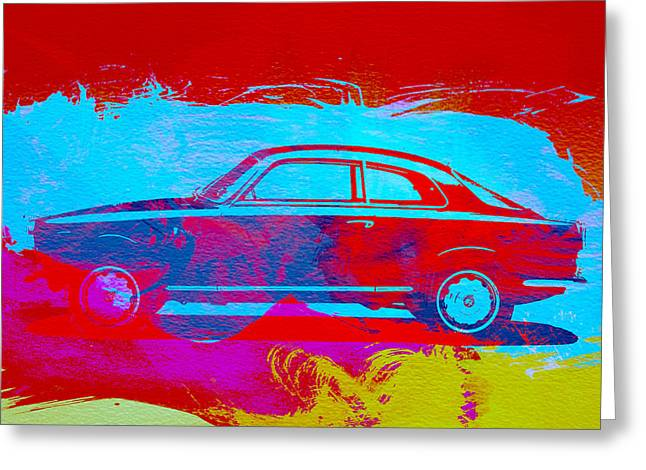 Alfa Romeo  Watercolor 1 Greeting Card by Naxart Studio