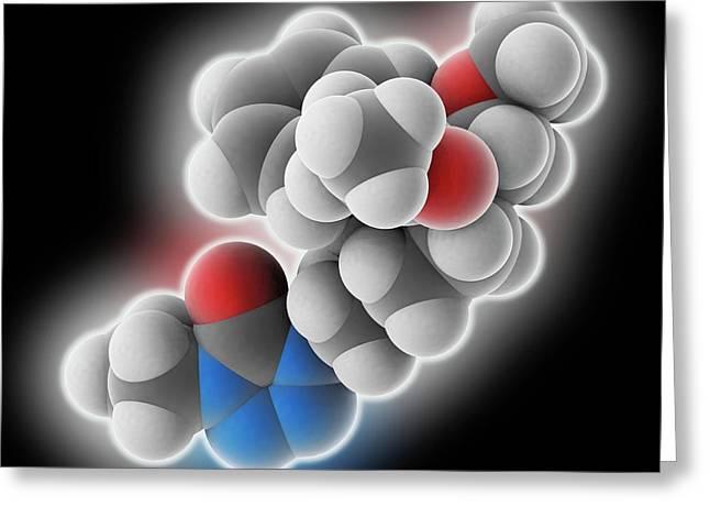 Alfentanil Drug Molecule Greeting Card by Laguna Design