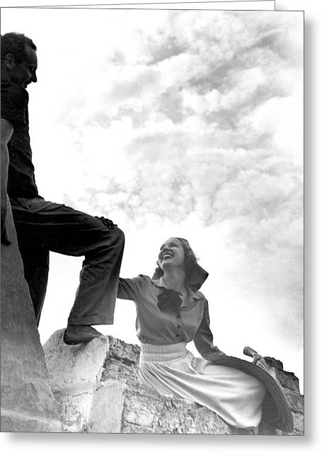 Alfred De Liagre And Mrs William Labrot Greeting Card by Horst P. Horst
