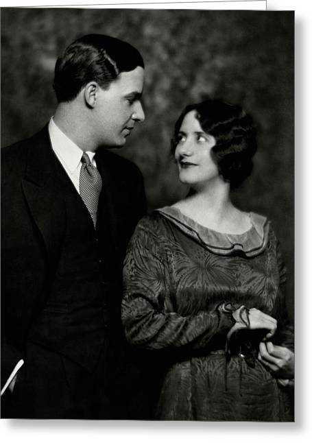 Alfred Lunt And Lynn Fontanne Greeting Card by Nicholas Muray