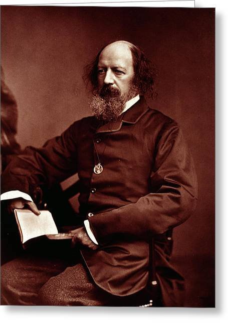 Alfred Tennyson Greeting Card by British Library