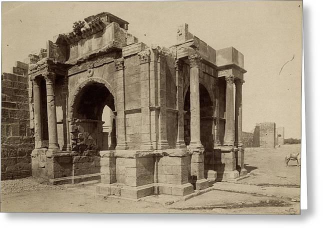 Algeria Arch Of Caracalla Greeting Card