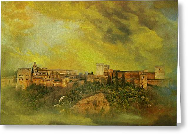 Alhambra Granada  Greeting Card by Catf