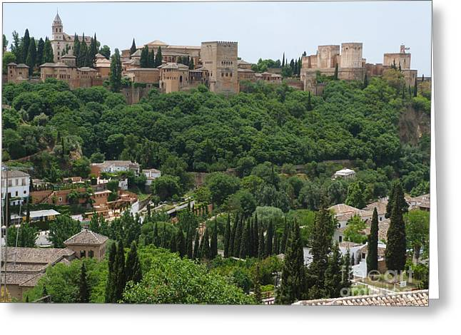 Alhambra - Granada - Spain Greeting Card by Phil Banks