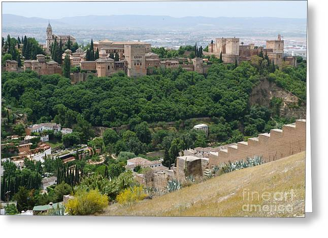 Alhambra Palace - Granada Greeting Card by Phil Banks