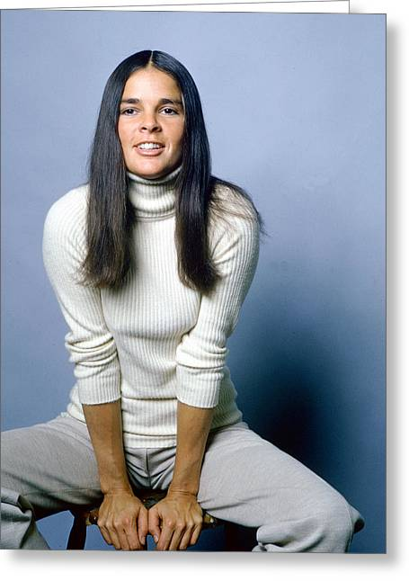 Ali Macgraw In Love Story  Greeting Card