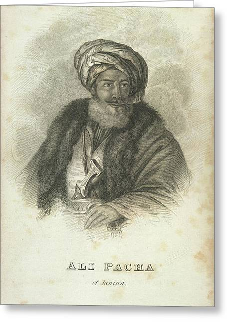 Ali Pacha Of Janina Greeting Card by British Library