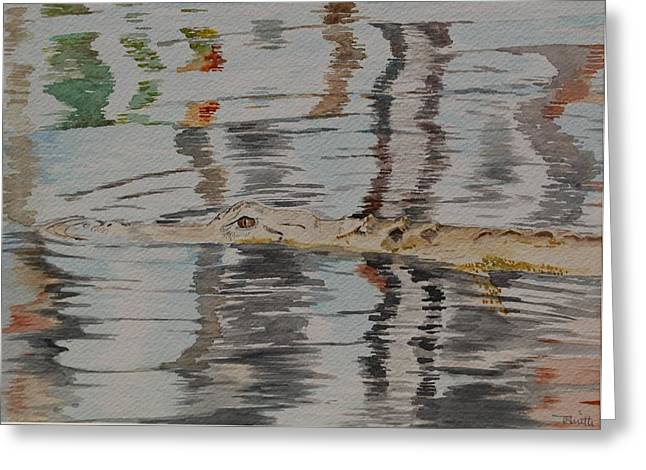 Ali The Alligator Greeting Card