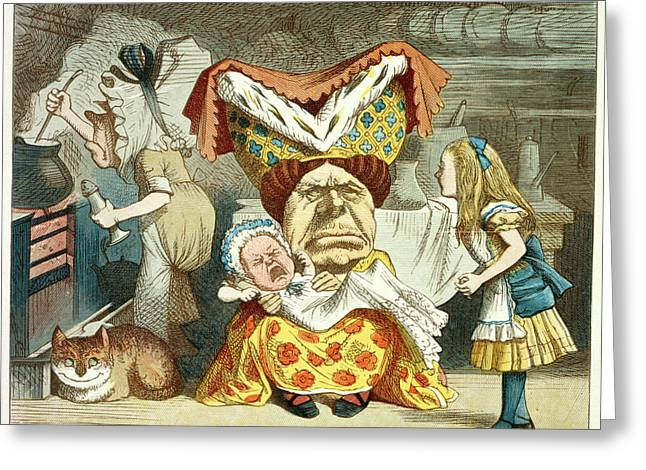 Alice And The Duchess Greeting Card by British Library