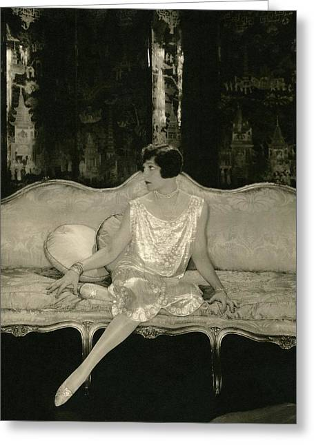Alice Brady On Set For The Play Sour Grapes Greeting Card by Edward Steichen