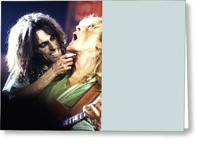 Alice Cooper 1975 Greeting Card