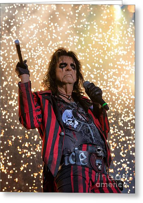 Alice Cooper Live Greeting Card