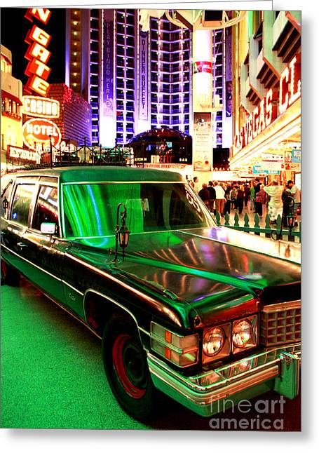 Alice Cooper's Hearse Greeting Card
