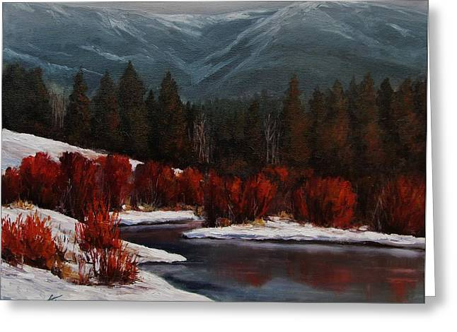 Alice Creek Greeting Card by Suzanne Tynes