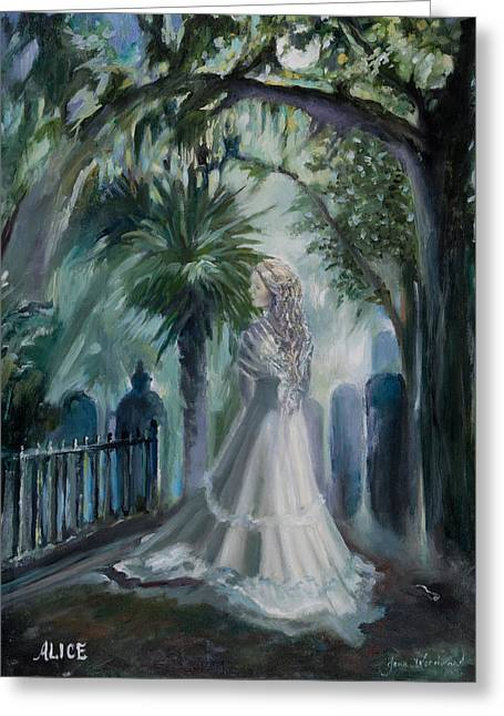 Alice Flagg - The Ghost Of Murrells Inlet Greeting Card by Jane Woodward