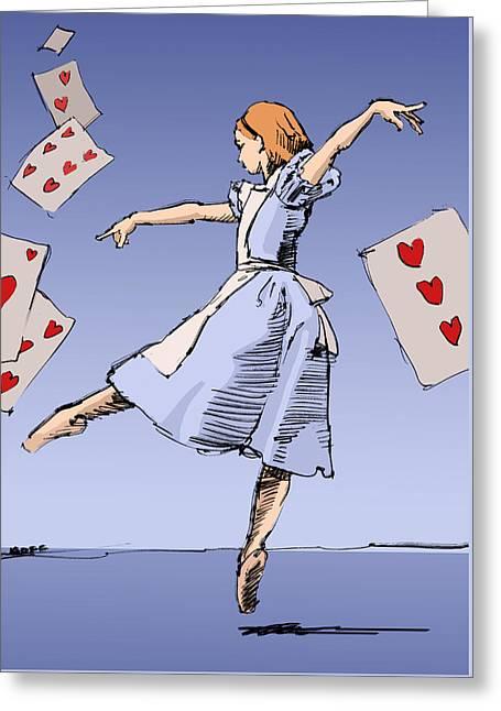 Alice Greeting Card by H James Hoff
