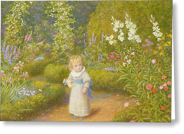 Alice In Wonderland Greeting Card by Arthur Hughes