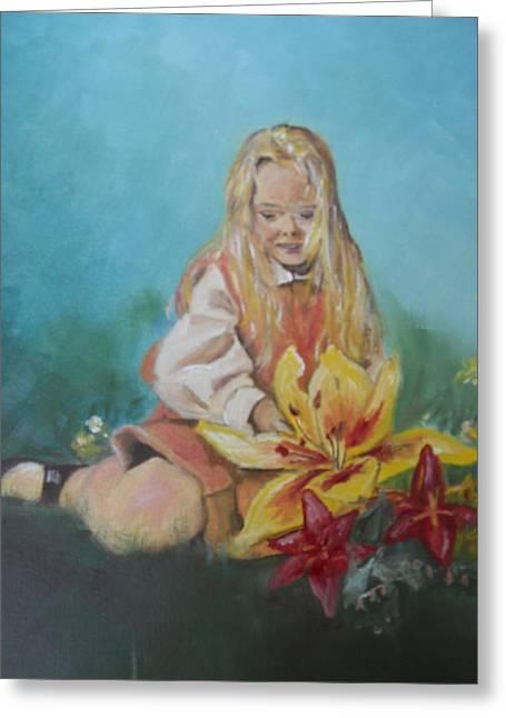 Alice In Wonderland Greeting Card by Joyce Reid