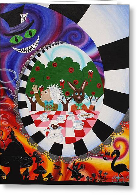 Alice In Wonderland Greeting Card by Laura Wiesch