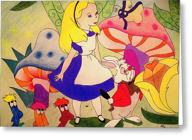 Alice Greeting Card by Jessica Sanders