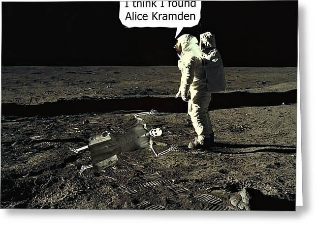 Alice Kramden On The Moon Greeting Card